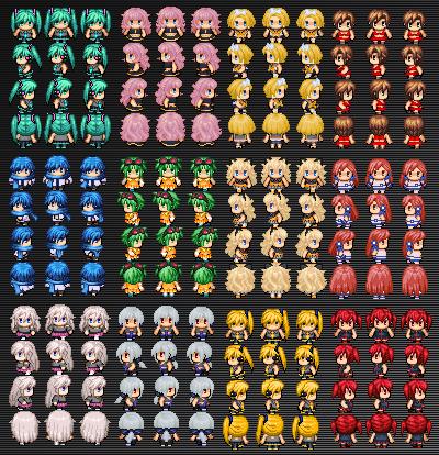 Vocaloid SpriteSheets by Xoriu