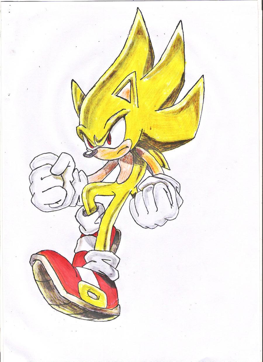 Super Sonic Drawing 1 By Thatonegib On Deviantart