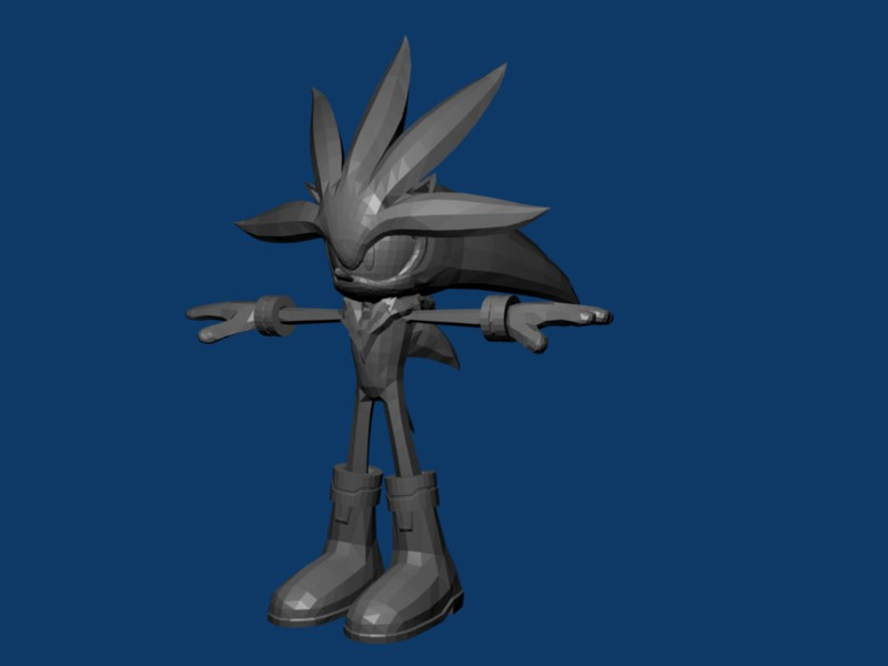 Silver the Hedgehog 3D model by nothing111111