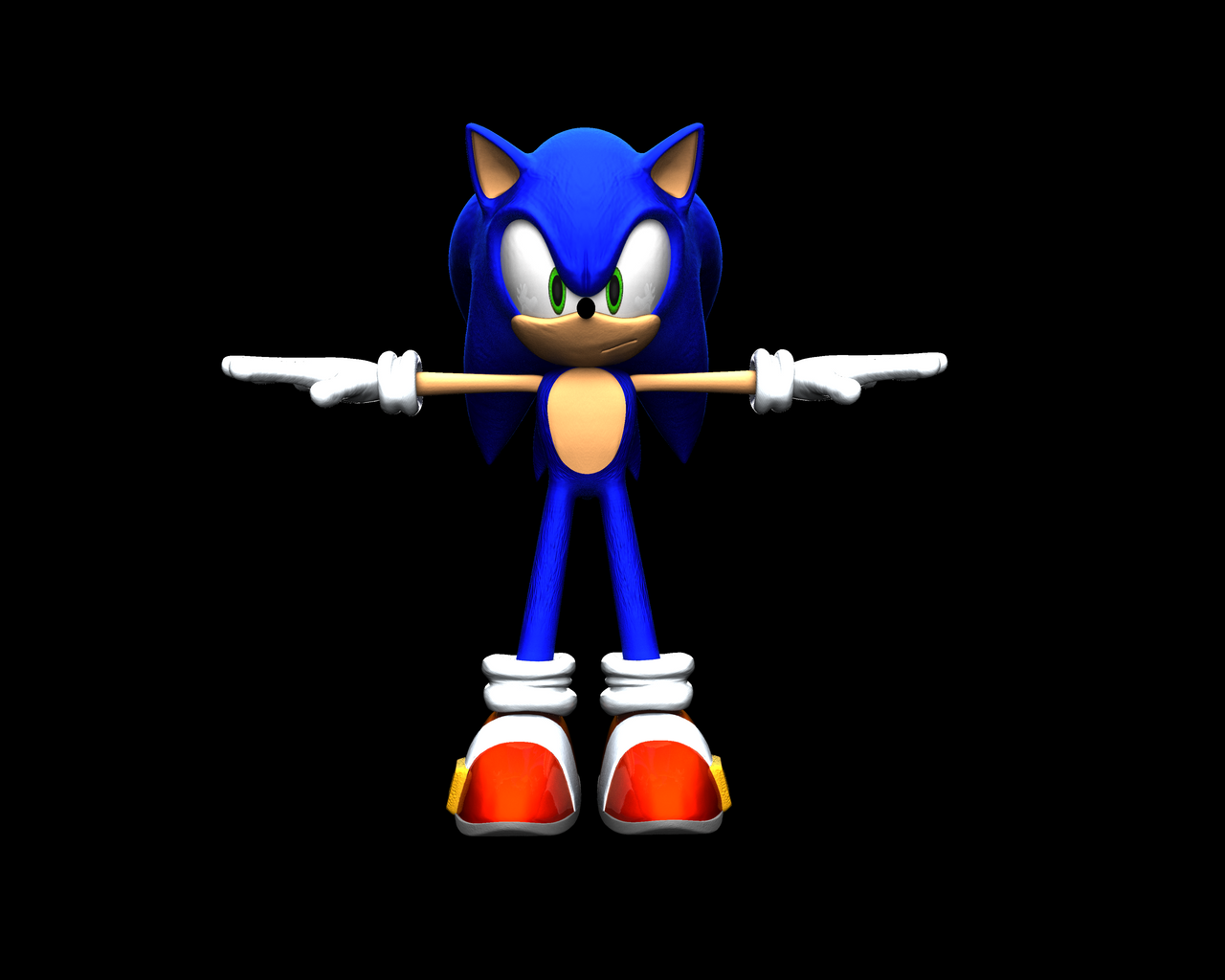 Sonic 3d model update by nothing111111 on deviantart for Deviantart 3d models