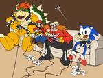 Mario n Sonic play Mario Party