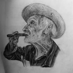 old man sketch portrait