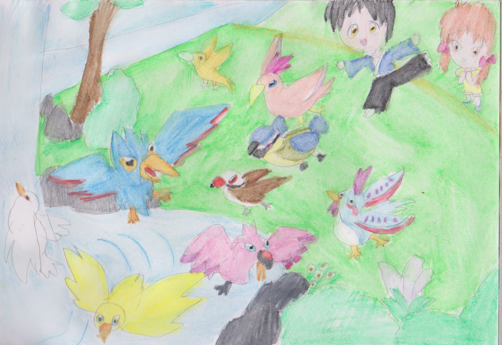 Birds by the river by HienFan