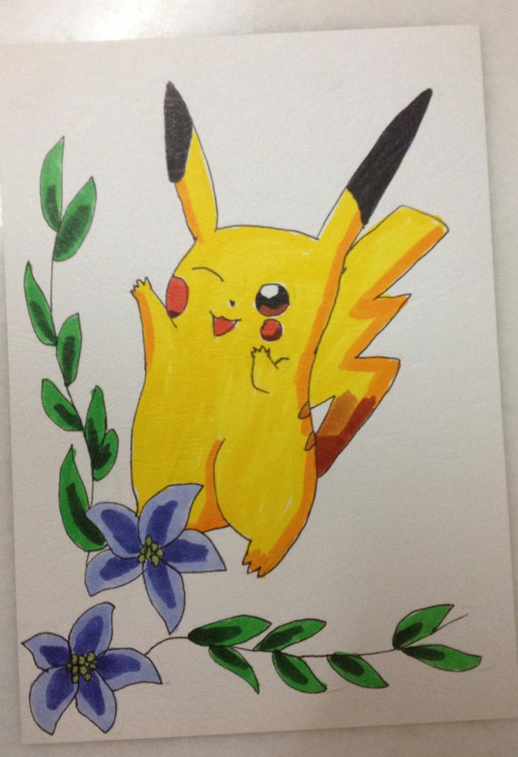 Pikachu postcard by HienFan