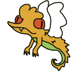 Little orange dragon by Rukisho