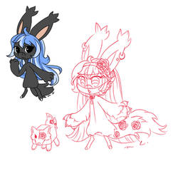 Blue's Original and Redesign Comparison by CheriPearl