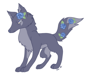 Blue's Wolf Form by CheriPearl