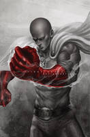 STREET FIGHTER V INCLUDE SAITAMA by vinrylgrave