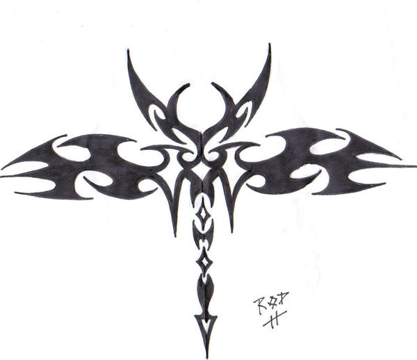 tribal design - shoulder tattoo