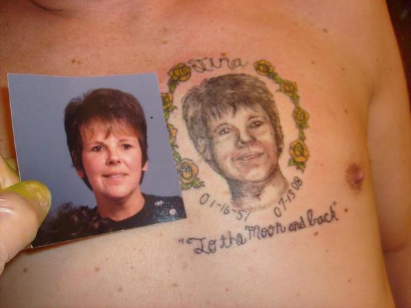 Potrait  Tattoo in back