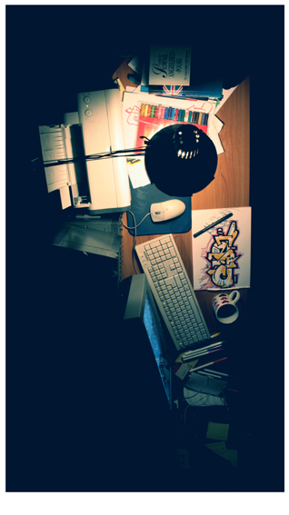 My Desk. by clideone