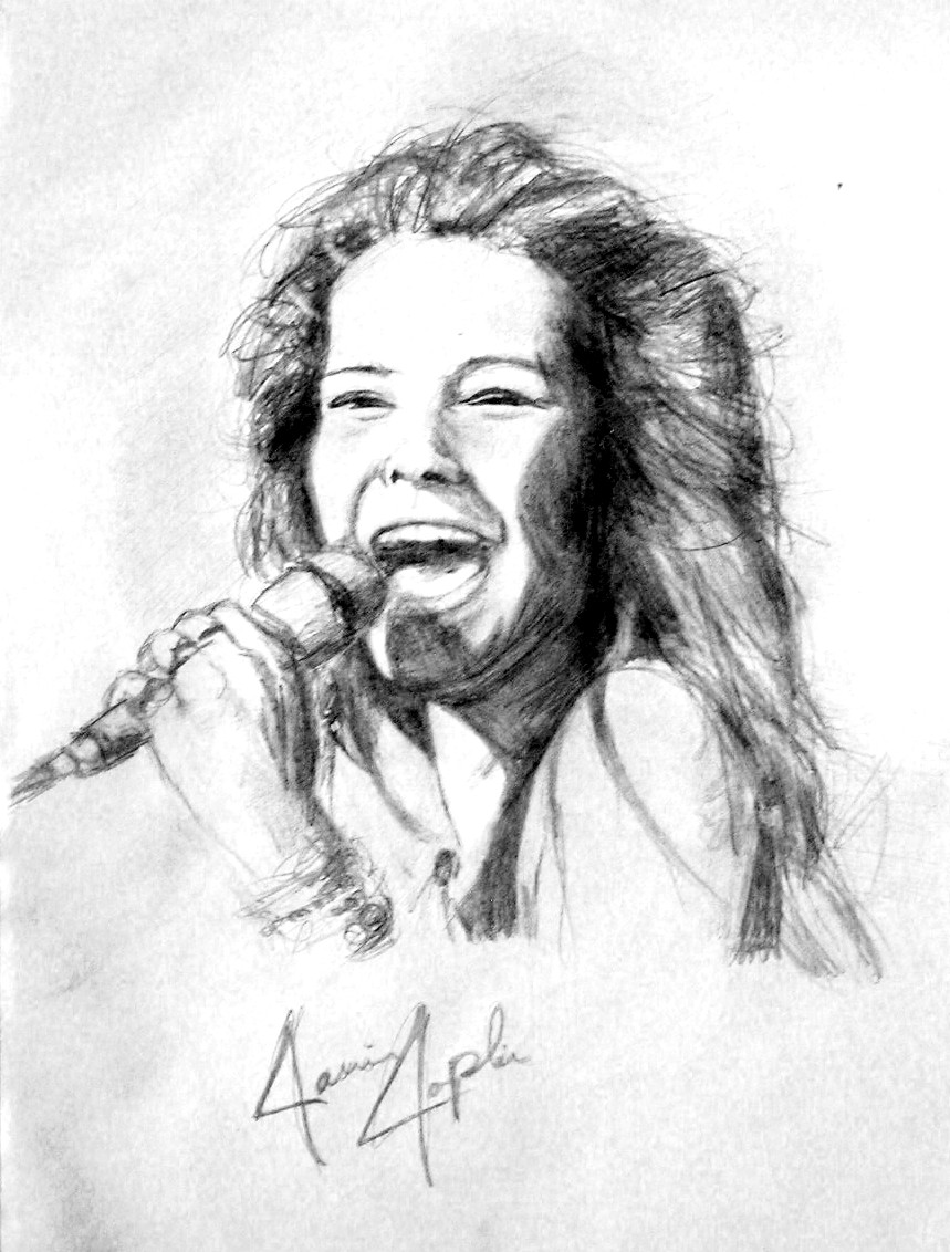 This is a picture of Fan Janis Joplin Drawing