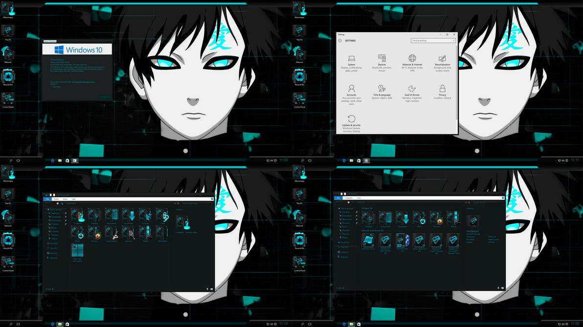 Windows 10 Anime Steel Viper Aqua edition 2015 by ...