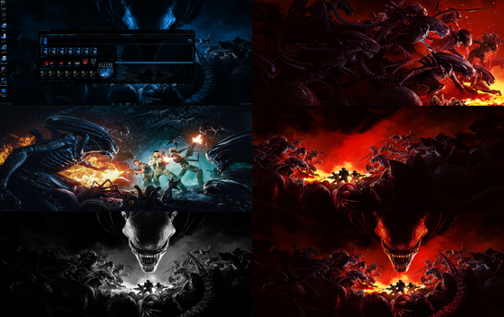 Aliens FireTeam Elite Wallpaper Pack Full HD - 8K