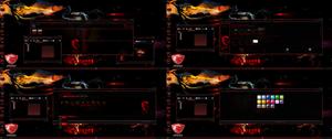 Elegant Red Theme Frames for Windows 11 / 10