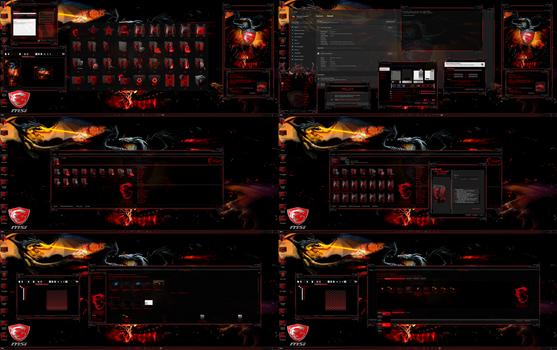 MSI Dragon Ultimate Theme edition for Windows 11