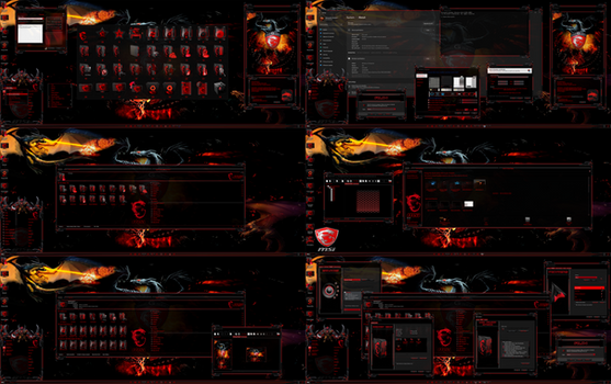 7tsp MSI Dragon Red Icon Pack for w10 and for w11