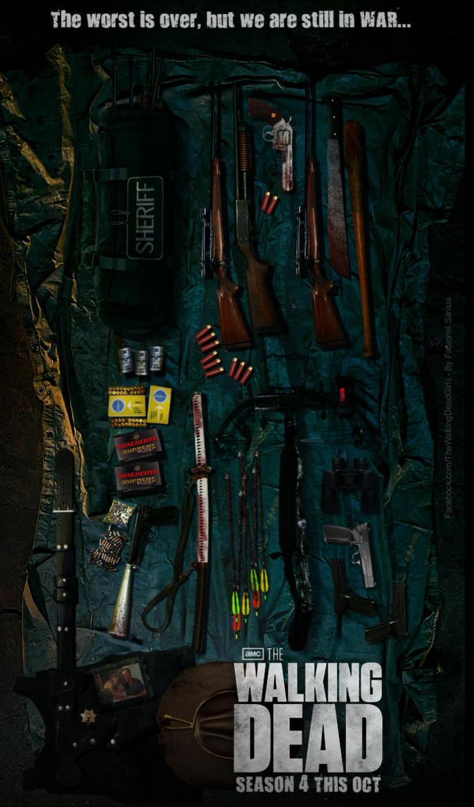 the walking dead poster season 4 by fabionei on deviantart. Black Bedroom Furniture Sets. Home Design Ideas