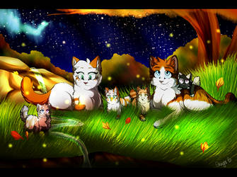 Autumn Night Fireflies - Commission by LostMews