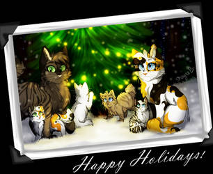 Happy Holidays - Lostpaw and Oakpaw's Family by LostMews