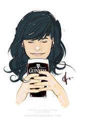 Guinness Girl by CharlesAllenHarris
