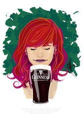 Guinness-girl-2013-r1v3 by CharlesAllenHarris