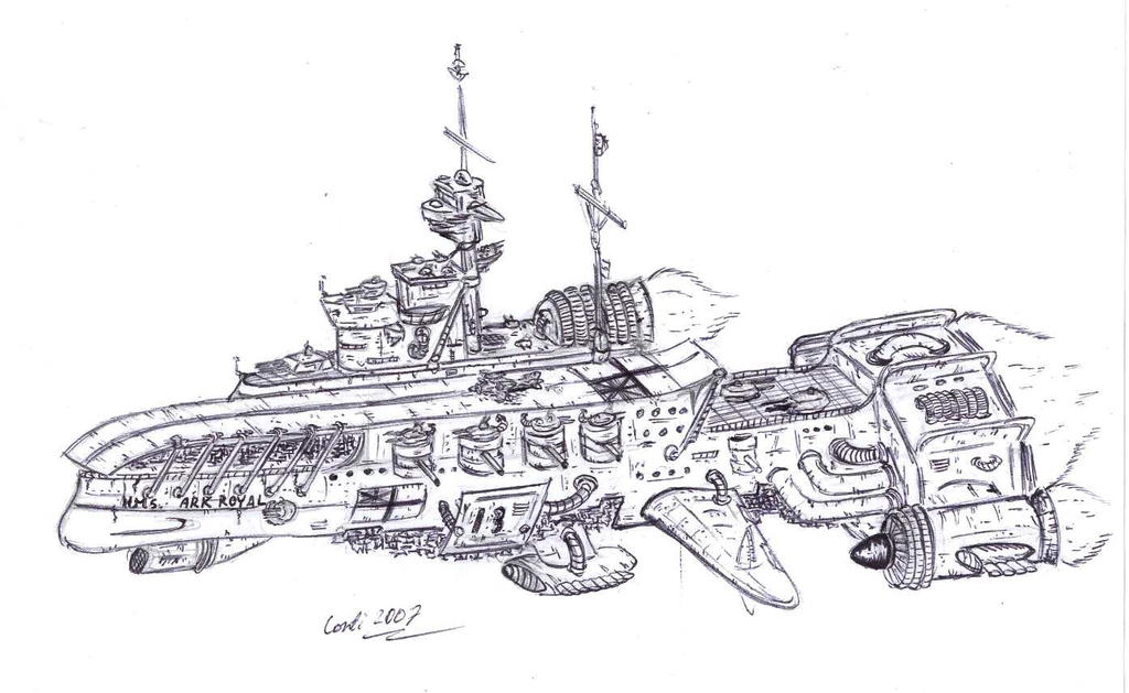 HMS Ark Royal space carrier by Kaiser-Conti