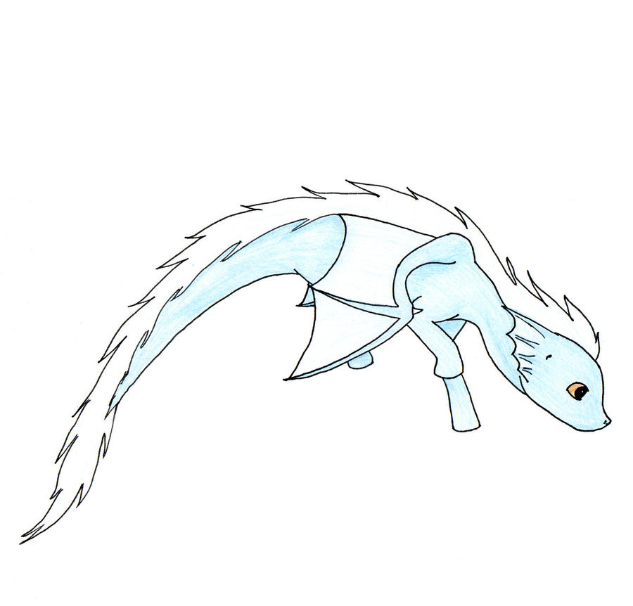 This is a picture of Decisive Chibi Dragon Drawing