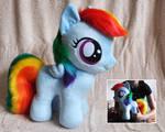 Big Filly Rainbow Dash Plush