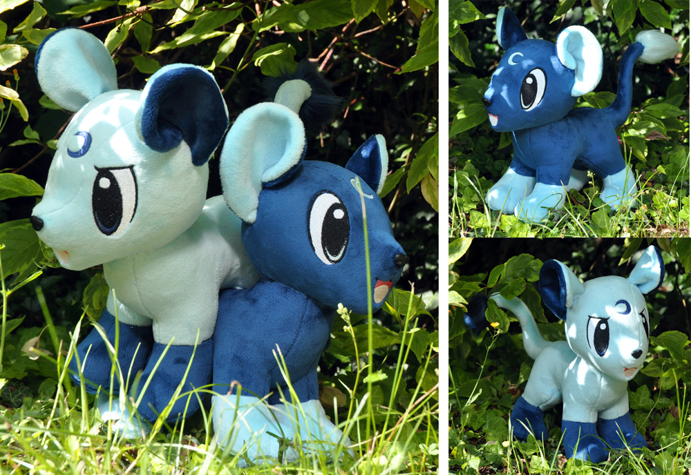 Brothers of moon plushies by Sethaa