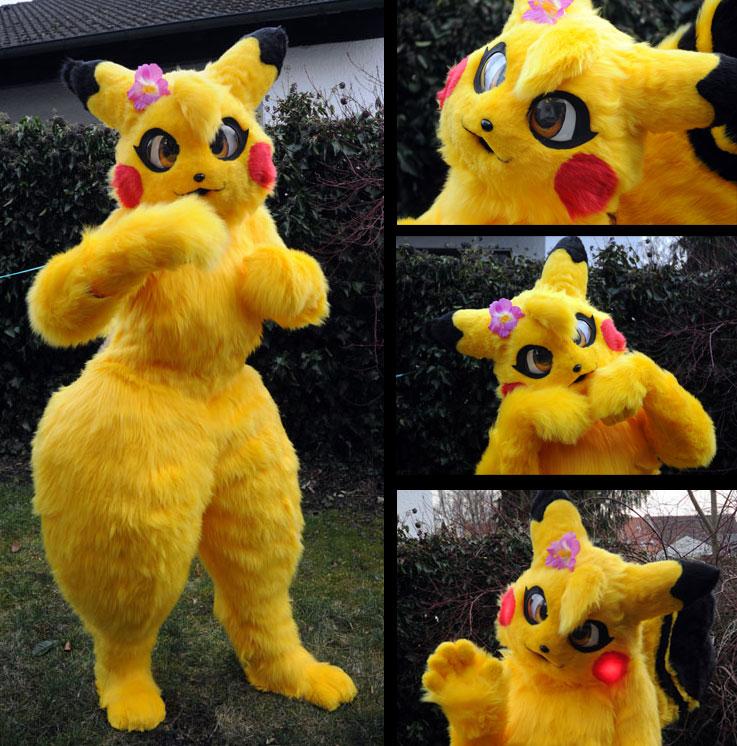 Nezumi Pikachu Fursuit by Sethaa