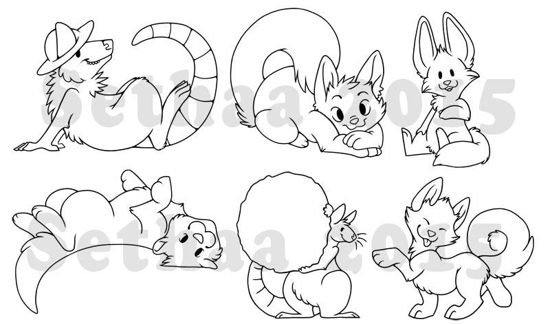 Some digital chibis by Sethaa