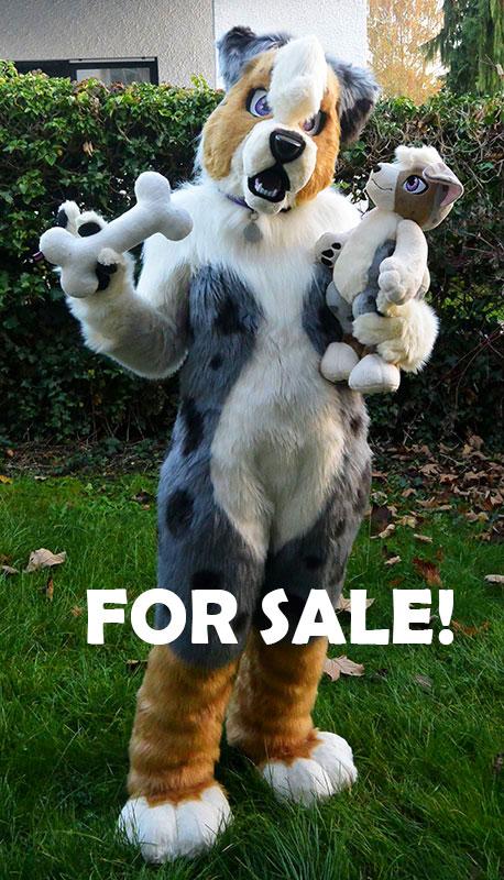 Selling Leela the Australian Shepherd+Plushie!! by Sethaa
