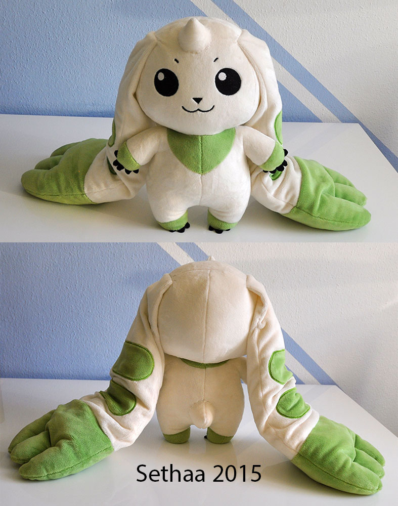 Terriermon Plush! All the Digi Power :D by Sethaa