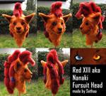 Red XIII aka Nanaki FF VII Fursuit Head