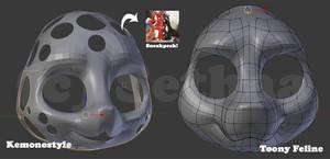 3D created Kemono and Toony Feline Base