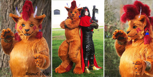 Nanaki aka Red XIII and Vincent at Animuc 2016 by Sethaa