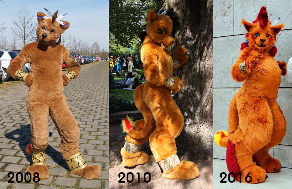 Nanaki/Red XIII over the years (again) by Sethaa