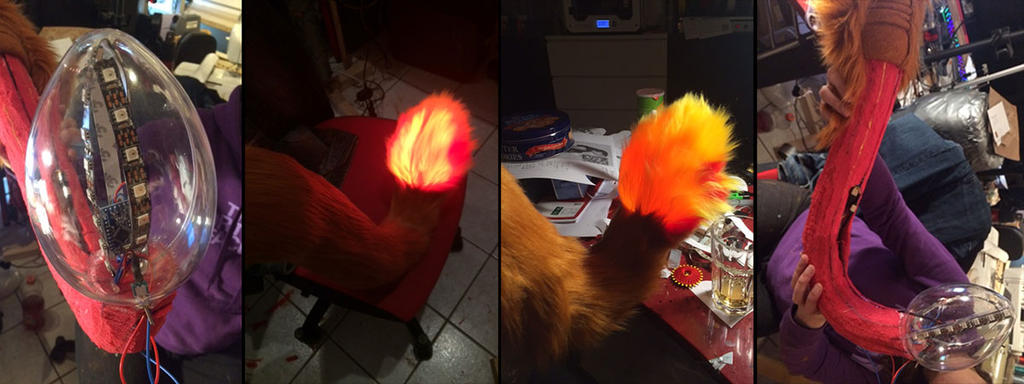 Nanaki / Red XIII tail tip light up by Sethaa