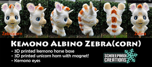 Zebracorn Kemono Fursuit Head