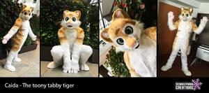Caida the tabby tiger fursuit