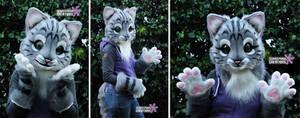 (SALE) Realistic Kemono Cat Halfsuit #2 by Sethaa
