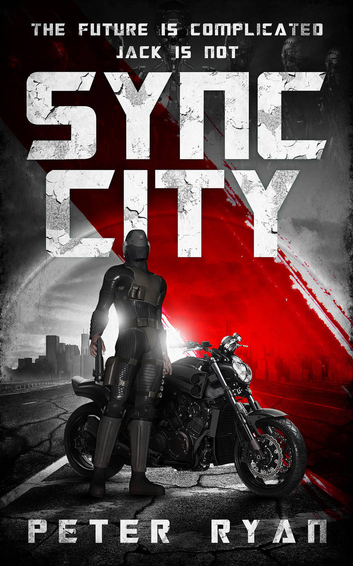 Book Cover Design for Sync City by ebooklaunch