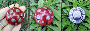 Mushroom Cap Necklace