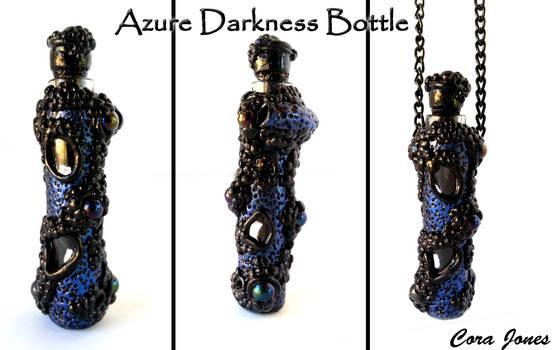 Azure Darkness - Altered Glass Bottle