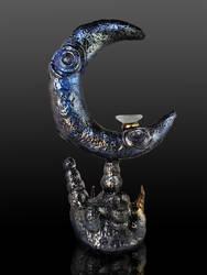 Moon Rising - Original Sculpture Incense Burner