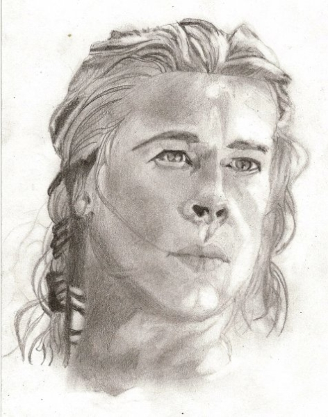 Brad Pitt [Achilles, Troy] by Light-N7 on DeviantArt Achilles Brad Pitt Hair