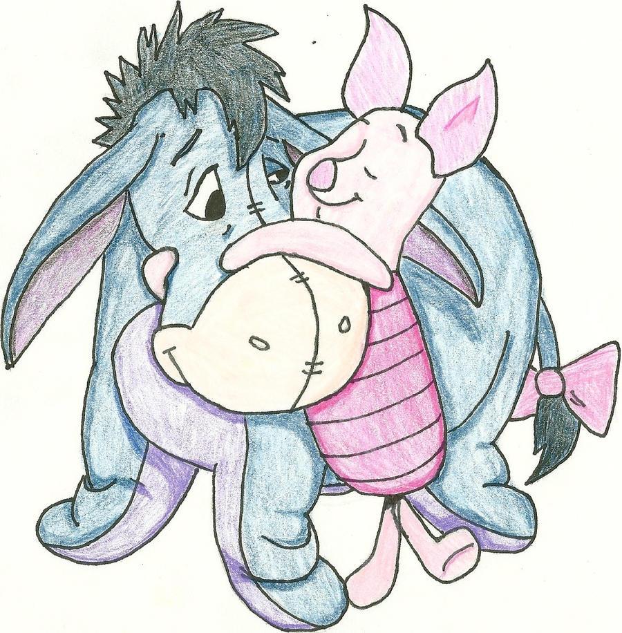 Baby eeyore and piglet
