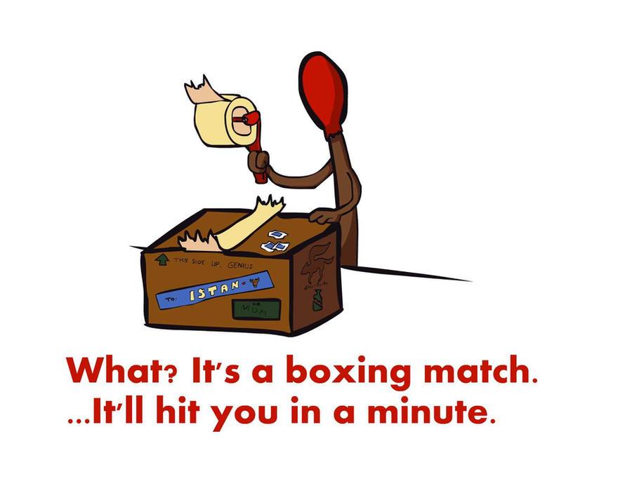 Visual Puns 2 - Boxing Match by TheStaticCling