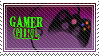 Gamer Girl Stamp by RaptureCyner